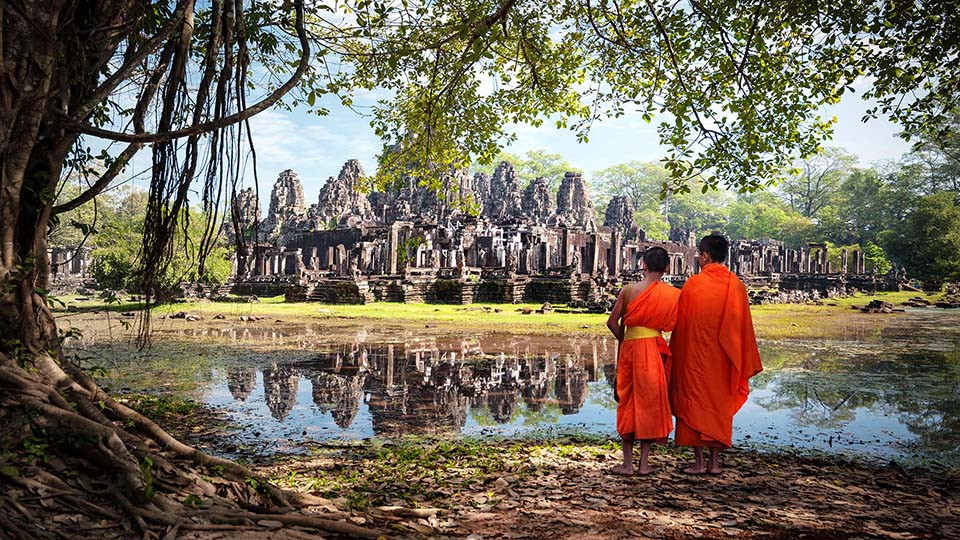 Angkor Temples are spread throughout the forest